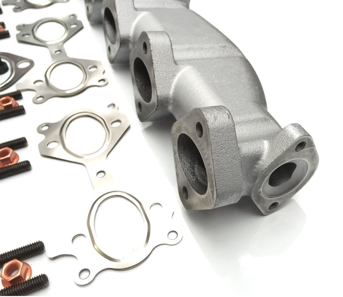TAKPART Tubo de escape de hierro fundido con juntas compatible para BMW E46 E39 E60 E61 E38 E65 E83 E53 3 5 7 X3 X5